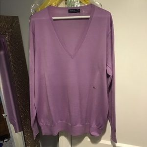 Lilac Polo merino wool,silk,cashmere sweater